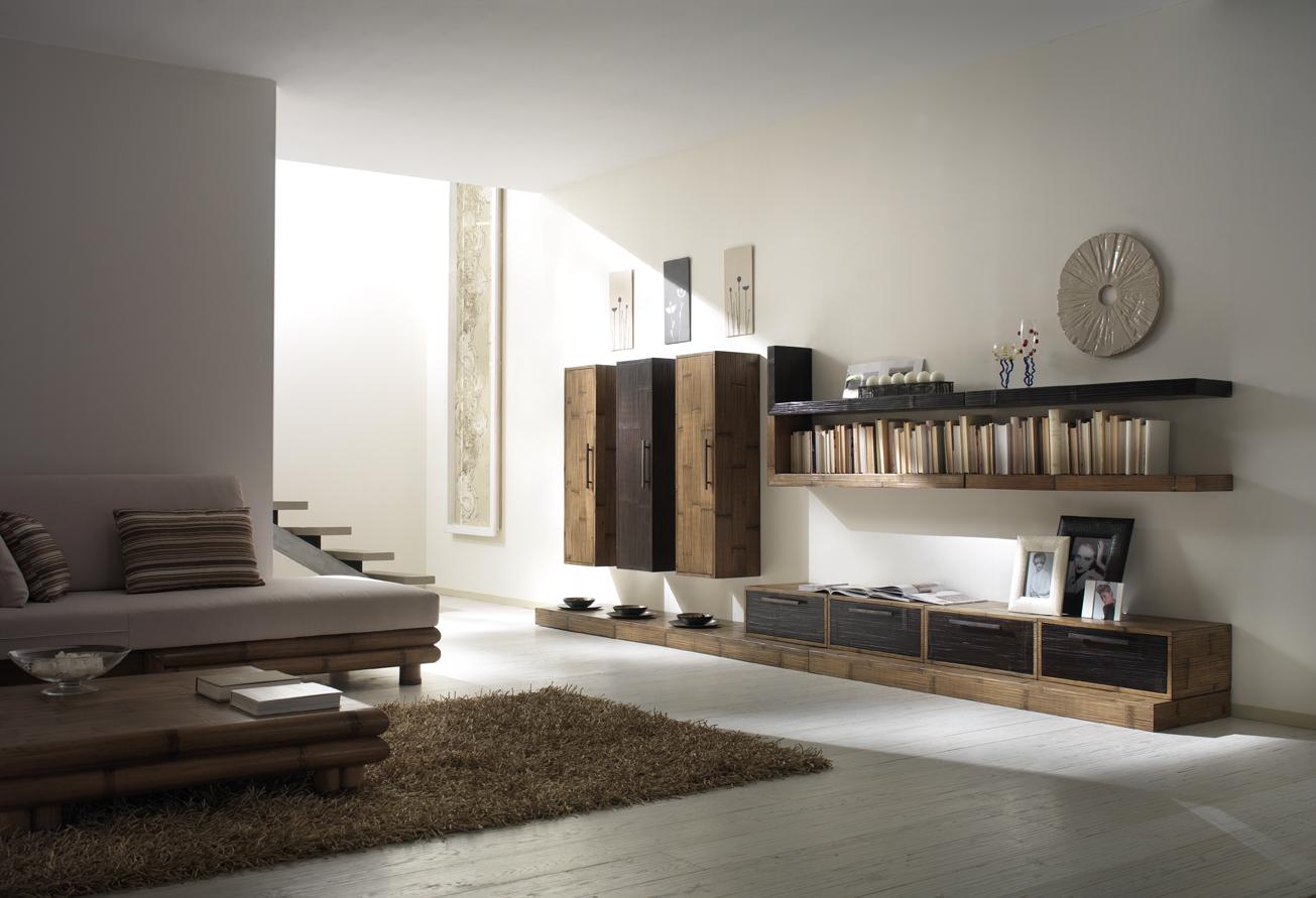 Mobili Componibili Soggiorno : I tesori d oriente mobili etnici soggiorno in bambù componibile
